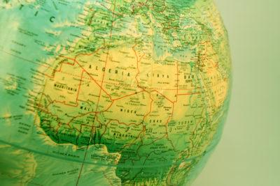 North Africa Globe